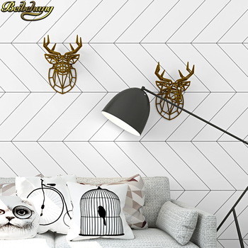 beibehang Nordic style black white plaid wallpaper modern minimalist tea shop clothing store 3D home improvement