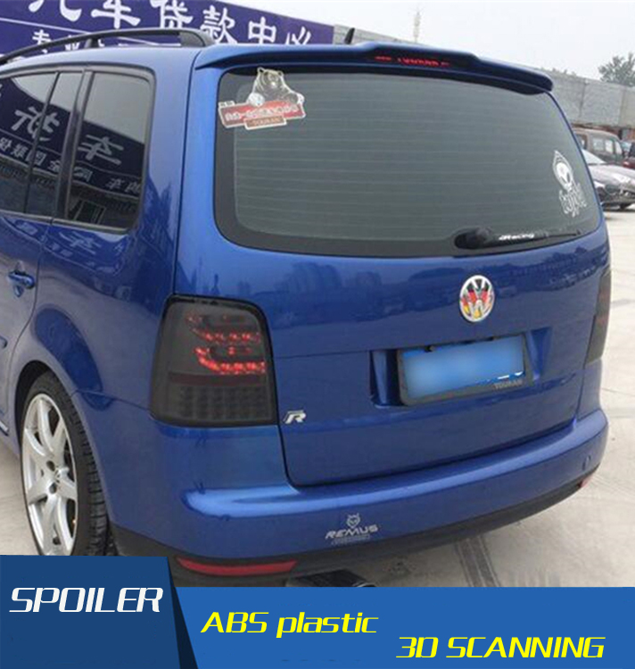 For VW Touran Spoiler High Quality ABS Material Car Rear Wing Primer Color Rear Spoiler For Volkswagen Touran Spoiler 2008-2013