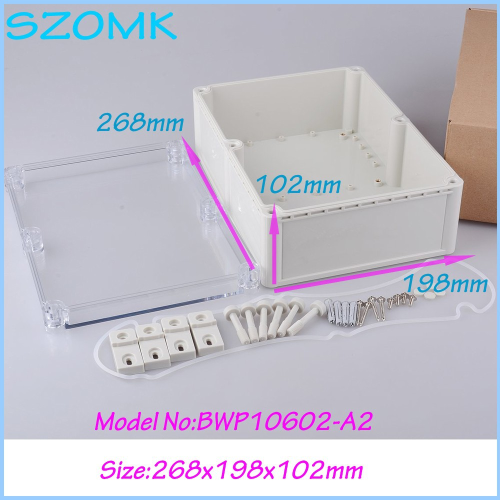 1 piece Plastic waterproof enclosure ip68 waterproof device box electronic box enclosure 268X198X102 mm 1 piece high quality abs plastic junction box ip68 waterproof level circuit housing led power supply enclosure 238 84 60 mm