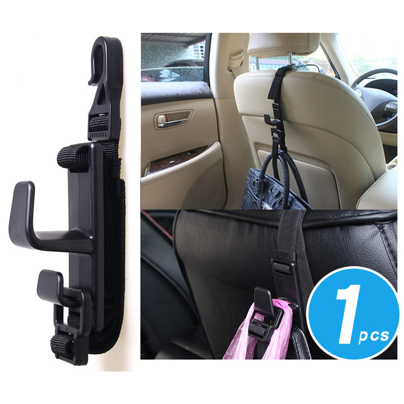 1/2pcs Universal Car Hook Adjustable Seat Headrest Clips Car Hanger Grocery Organizer Hooks Automotive Interior Car Accessories