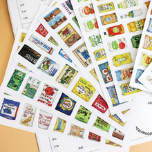 220pcs Half Cut Cute kids famous food and drink sticker Photo album decoration DIY adhesive stickers/ self made paper sticker