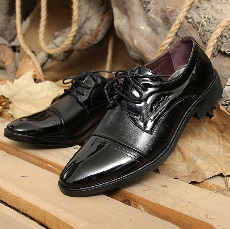 SAGYUA Luxury Brand Patent Leather Shoes Men Oxfords Men's Flats - Men's Shoes - Photo 3