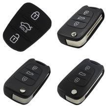 jingyuqin 10ps Car Key Shell for Kia Rio 3 Picanto Ceed Cerato Sportage K2 K3 K5 Soul Hyundai BTN Remote Folding Flip Case
