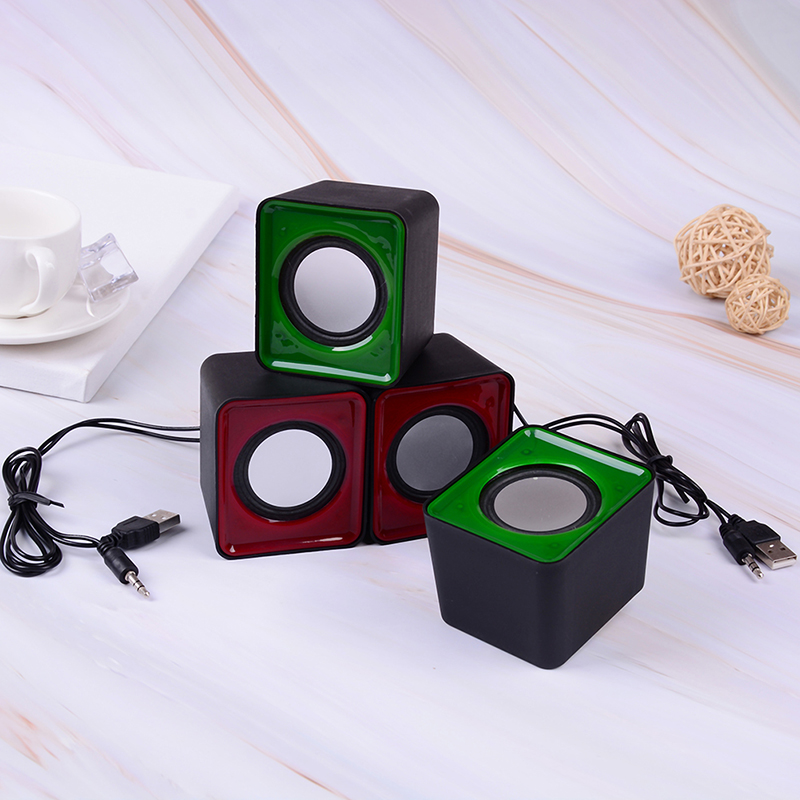 1 Paar Tragbare Mini 3,5mm Jack Multimedia Stereo Sound Box Mini Lautsprecher Für Pc Desktop Preisnachlass