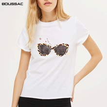 New 2019 Summer Fashion Tees Women Print T Shirt Cotton O-neck Short Sleeve Tops For Kawaii white Tshirt Streetwear