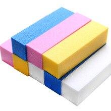 Wholesale 100PCS Nail Buffer Nail Files Fluorescent Color Sa