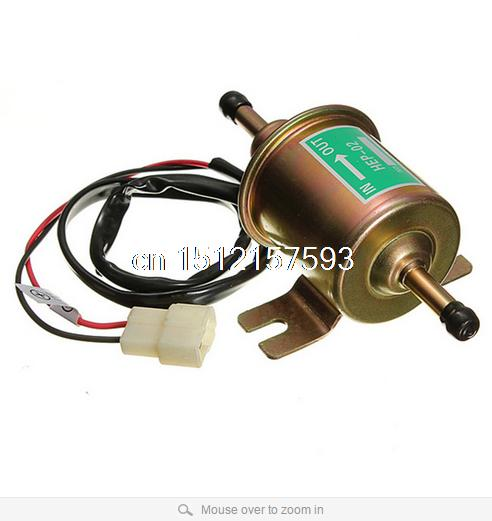 12V 8mm Pipes Car Boat Diessel / Petrol HEP-02A Set Metal Electric Fuel Pump Free Shipping high quality full metal methanol gasoline electric pump for fuel helicoter rc airplanes rc boat fuel metal pump free shipping