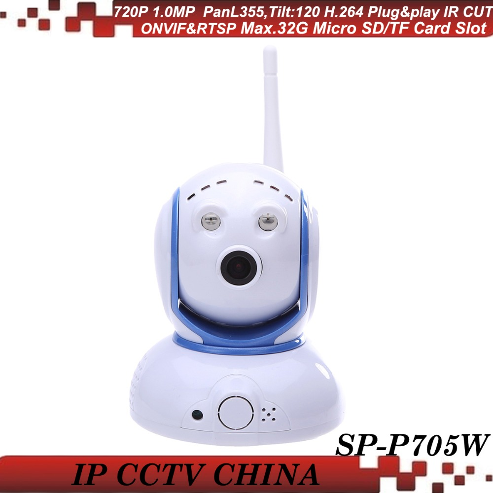 SunEyes SP-P705W ONVIF Mini Wireless IP Camera Pan/Tilt 720P HD Project Quality with Two Way Audio and Micro SD/TF Card Slot suneyes sp p902wpt onvif 960p hd wireless pan tilt dome ip camera with tf micro sd card slot two way audio array ir low lux