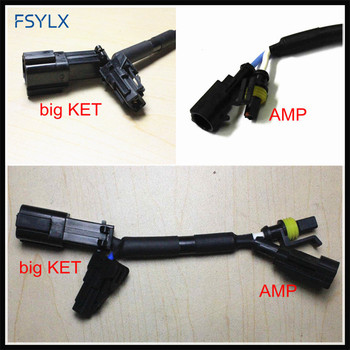 FSYLX big KET- AMP connector relay harness for H3 H4 H7 H11 Car HID xenon headlight ballast AMP KET adapters Connector cables