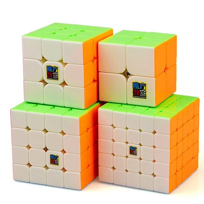 4 pièces/ensemble 2x2x2 3x3x3 4x4x4 5x5x5 Coloré Cube Magique Puzzle 2*2*2 3*3*3 4*4*4 5*5*5 Cubes pour enfants cadeau d'anniversaire (S8