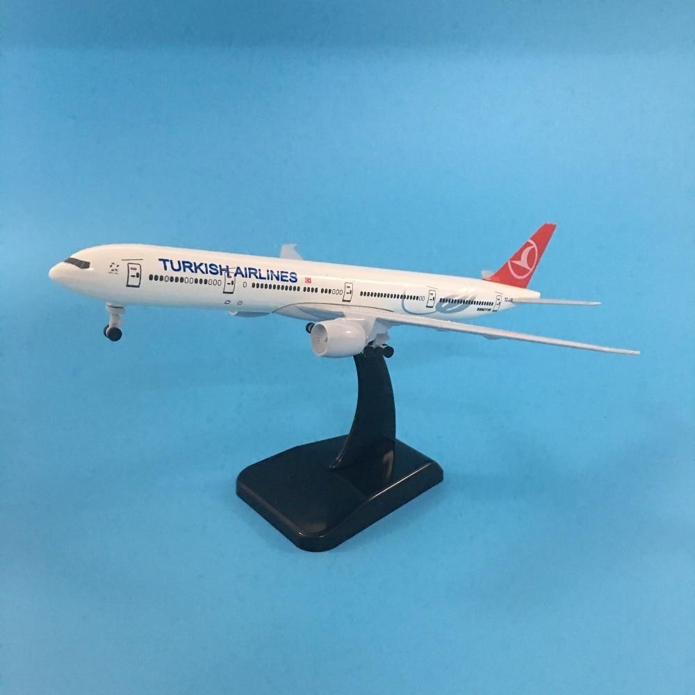 JASON TUTU Plane Model Airplane Model TURKISH Boeing B777 Aircraft Model 1:200 Diecast Metal 20cm Turkey Airplanes Plane Toy