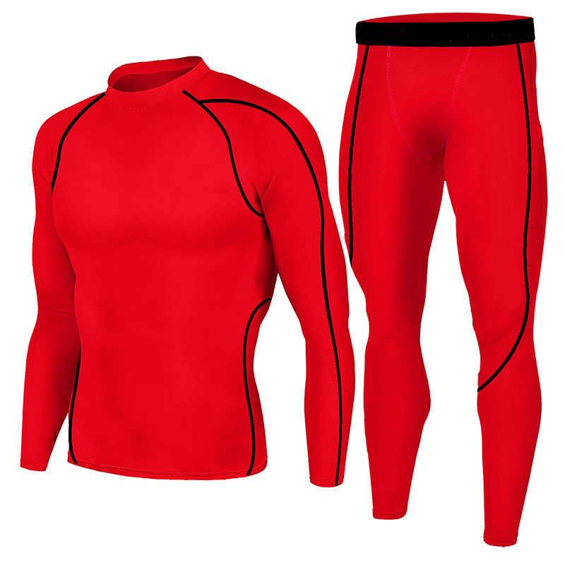 Для Мужчин's беговой костюм Фитнес рубашка тренировочные брюки New Спортивная тактическая ММА Rashgard мужской сжатая одежда Для мужчин s Пот Костюмы