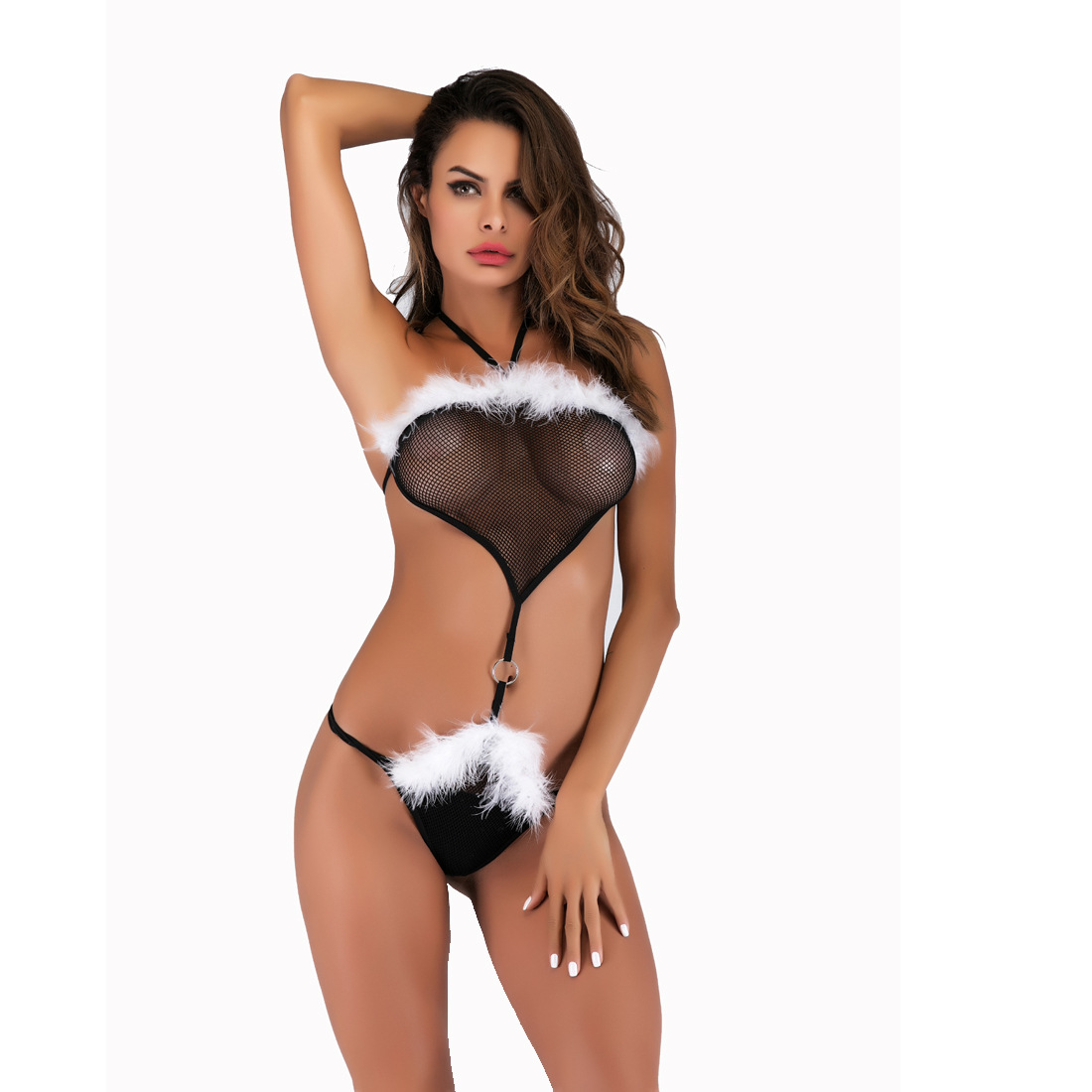 2019 Spring Deals Temptation Lace Sexy Underwear Set Bra Cute Sexy Uniform Sexy Pajamas Underwear Seamless Underwear Set F036 image