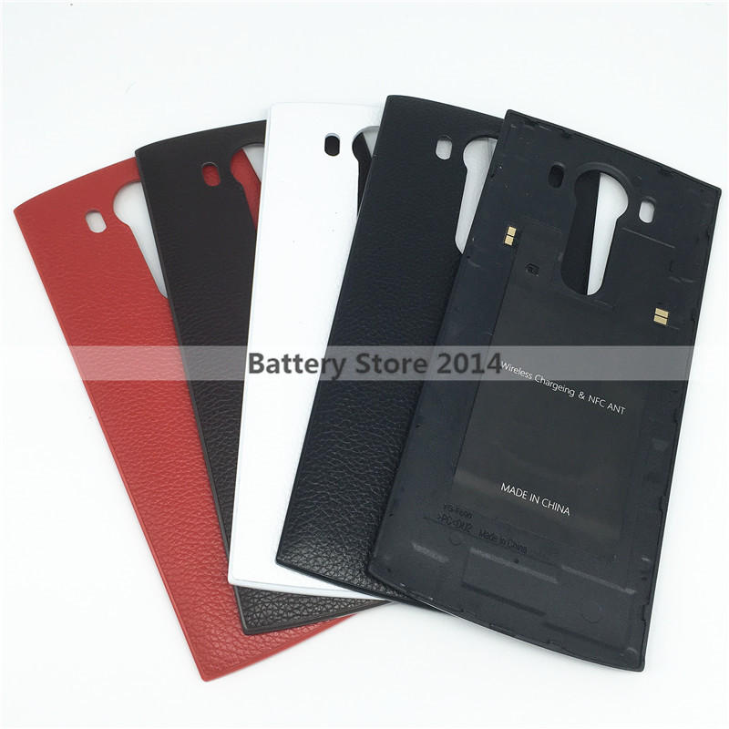 For LG V10 Genuine Leather Case Replacement Battery Housing Back Cover For LG V10 with Qi