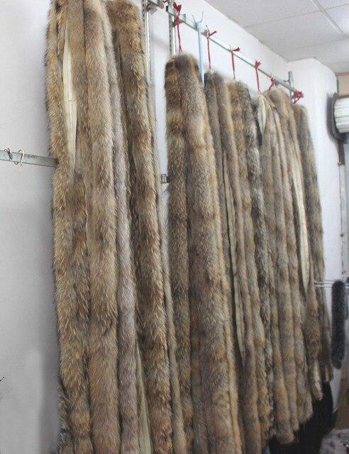Енот крышка воротник 70 см 100 см 200 см длинные Натуральный мех freeshipping