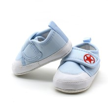2017 Lovely Solid Baby Shoes Newborn Fashion Canvas First Wa