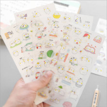 цены 6pcs/lot Bean bag Creative sticker child diy toy Calendar Album Deco sticker Photo Decor Student stationery material