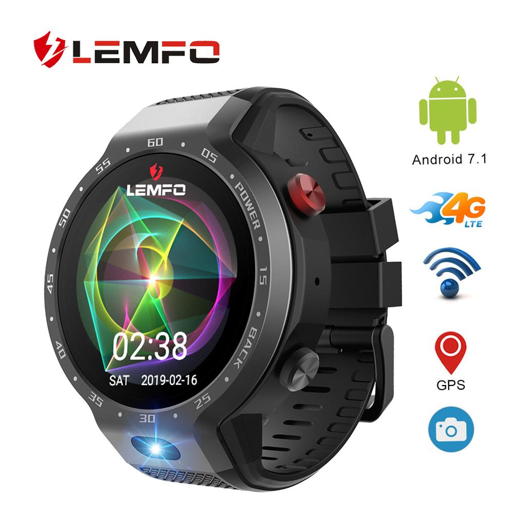 LEMFO LEM9 Dual System 4G Smart Watch Phone Android 7.1.1 1.39 inch 454*454 Display 5MP Camera 600Mah Battery sports Smartwatch armband for iphone 6