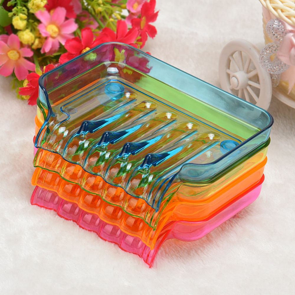 2017 Kitchen Tools Bathroom Shower Soap Box Dish Storage Plate Tray Holder Case Suction Soap Hanging Storage Bathroom Gadgets