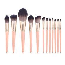 12 шт. набор кисточек для макияжа, румяна, кисть для теней, косметические инструменты для макияжа, портативный набор кистей для макияжа глаз