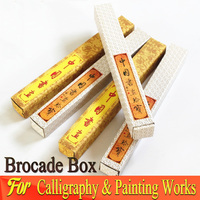 Chinese Brocade box for Painting Calligraphy Words Traditional Art Painting Supplies Storage Box
