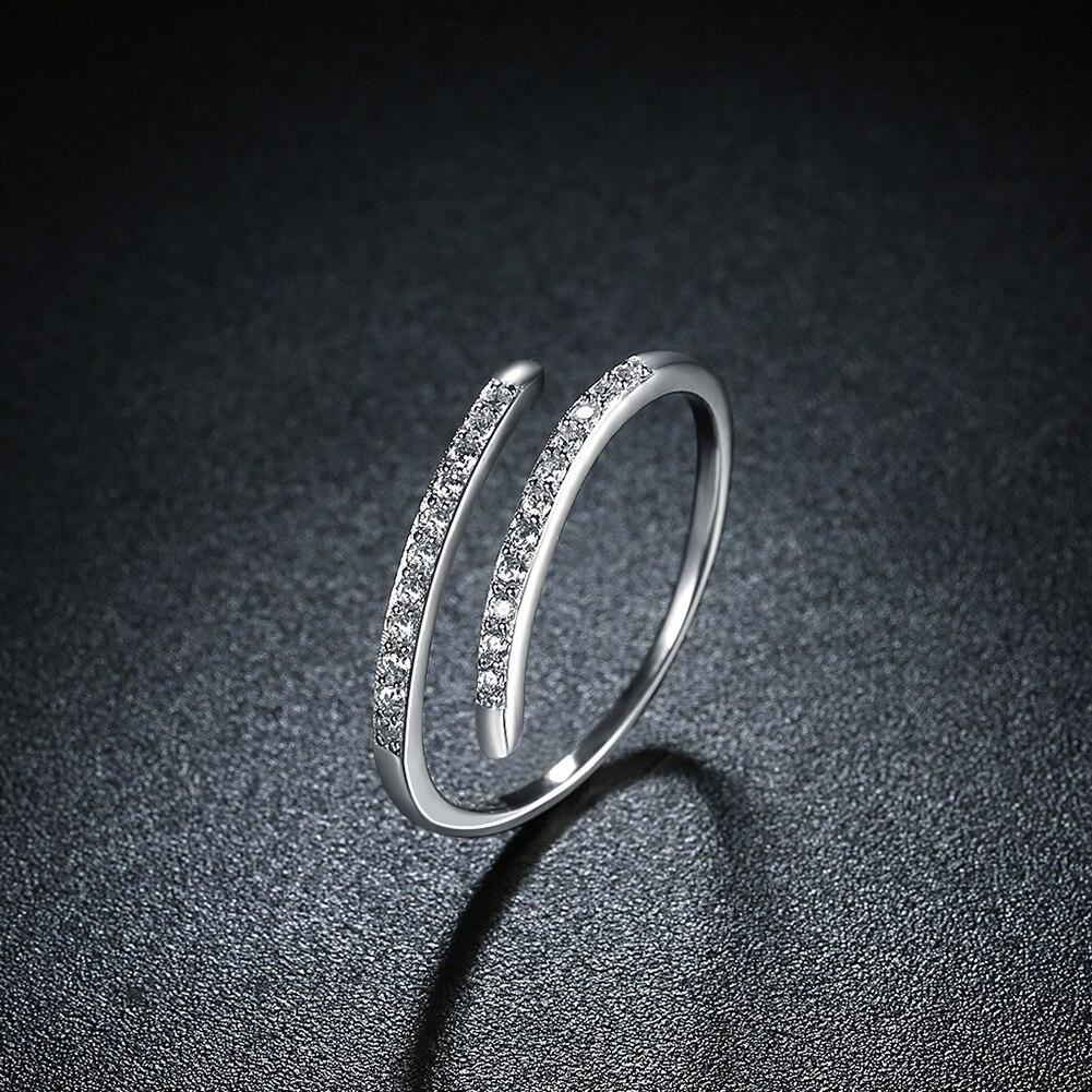MUTO Simple Geometric Opening 925 Sterling Silver Ring Women 2017 Fashion Popular Adjustable Girl Fine Jewelry SVJZ6011