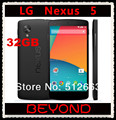 Teléfono móvil LG Nexus 5, 32 GB desbloqueado GSM 3 G y 4 G Android WIFI GPS 4.95 '' 8MP Quad core RAM 2 GB D820 / D821 Dropshipping