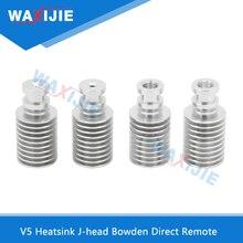 10PCS/Lot J-head V5 Bowden Heatsink SHort Distance Remote Aluminium Part For V5 Wade Extruder 1.75/3mm Filament 3D Printer Parts