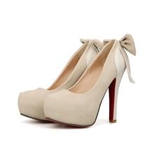 ARMOIRE Brand New Fashion Black White Apricot Super High Heels Women Platform Pumps Ladies Shoes AB12 Plus Big Size 10 33 43