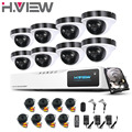 8CH HD DVR 1080P NVR CCTV Home Security Camera System 8PCS IR Outdoor 2.0mp AHD CCTV Camera Video Security Alarm System 1TB