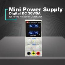 30 V/5A цифровой мини DC Питание вольтметр Дисплей Регулируемый коммутации для мобильного телефона PC Тетрадь техническое обслуживание