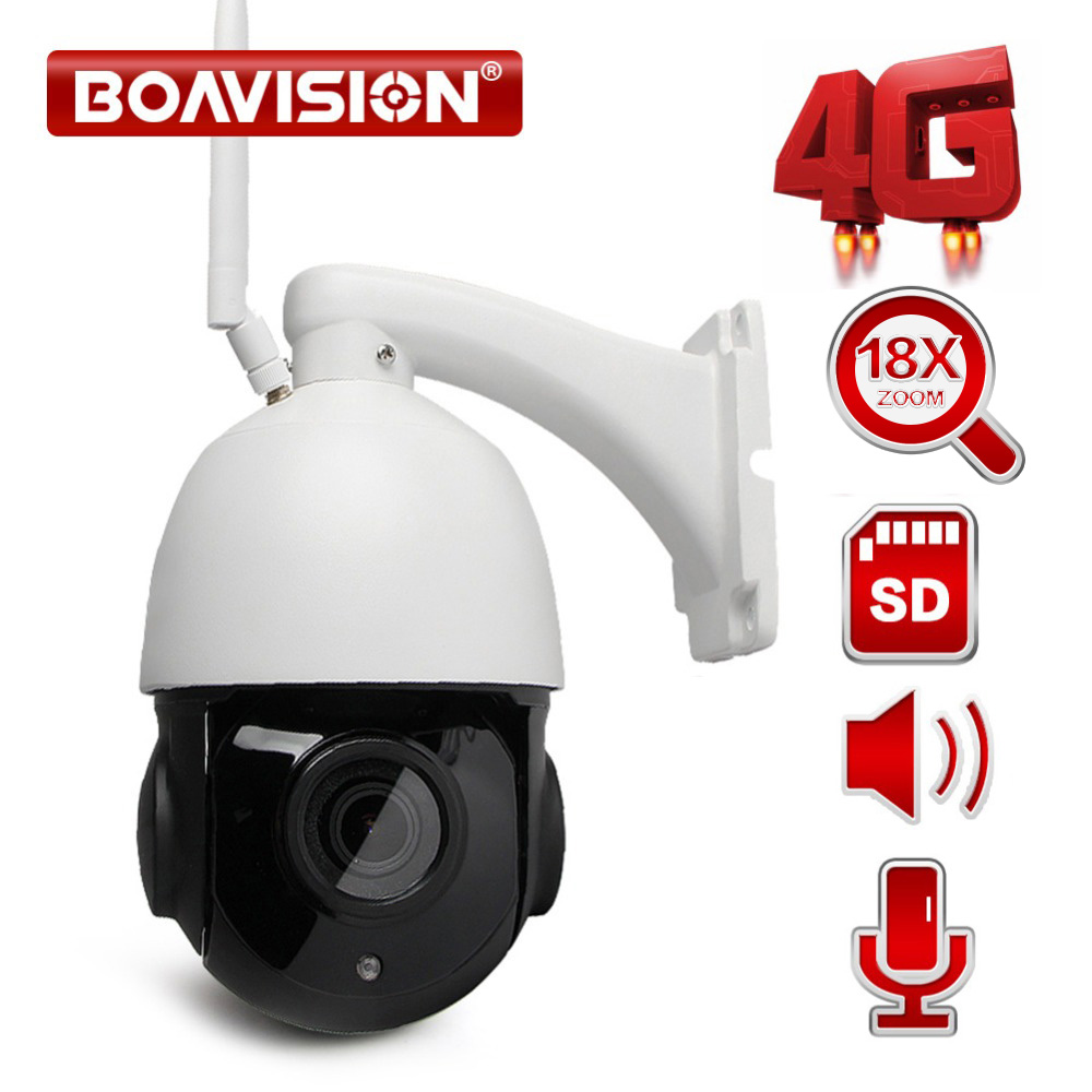 1080P WIFI Speed Dome PTZ IP Camera Wi-Fi Outdoor 3G 4G SIM Card Cam Two Way Audio Speaker 18X Optical Zoom CCTV Camera SD Card ps vita дешево 3g wi fi