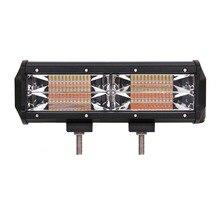купить ECAHAYAKU 1x 11inch 144W Tri-row 12V atv Light Bar 5 light type Flood led work light 24V Truck 4WD OffRoad UTV Boat Driving Lamp дешево