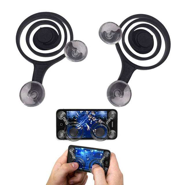 2Pcs Mini Joysticks Mobile Phone Handler Any Touch Screen Smart Mobile Joystick For Smart Phones Tablets Arcade Games P0.11