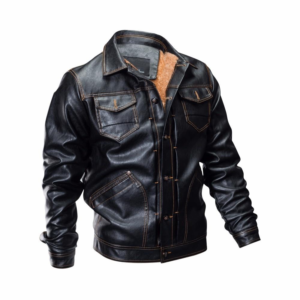 Haute Qualité 100 Manteaux Hommes Coton Noir Nouvelle En Bomber Vestes De  Marque Veste Cuir 2019 ... f52dac8da26