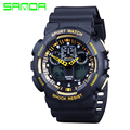 Digital Watches Men Sport Watches Military Style Watch New Dual Display Watches Relogios Masculinos Silicone Waterproof
