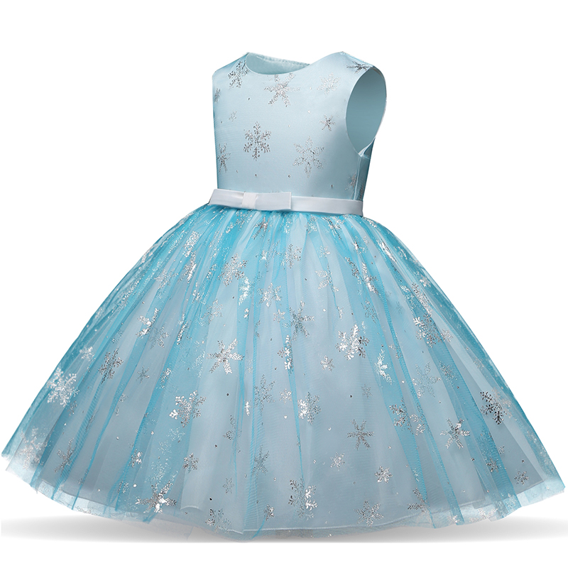 Baby Girls Christmas Party Dresses For Princess 3 4 5 6 7 8 9 10 Years Dresses Anna Elsa Clothing Snow sequined Shining Dress 2019 christmas girls dress kids dresses for girls unicorn party dress children clothing cosplay dresses 2 3 4 5 6 7 8 9 10 years