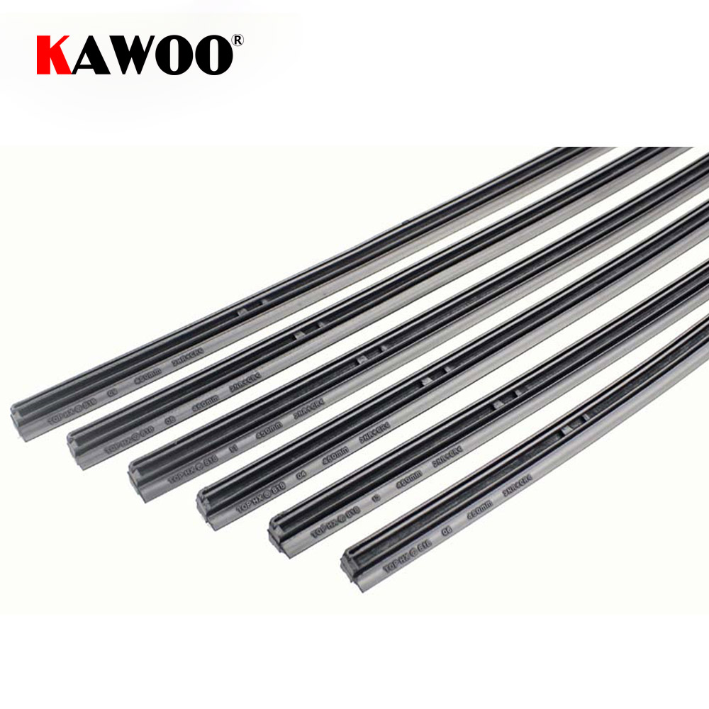 KAWOO Auto Car Wiper blade Strips Vehicle Insert Rubber Strip 14''16''17''18''19''20''21''22''24''26'' 10mm 1pcs Automotive Accessories