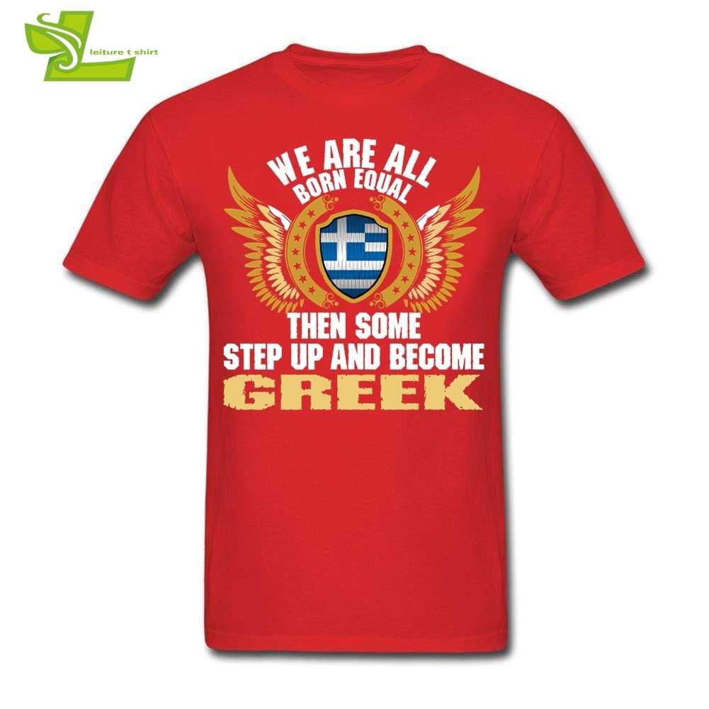 كلنا ولد يساوي ثم بعض تصعد وتصبح اليونانية رجل درع العلم تي شيرت قمم الرجال الزى المراهقة أحدث الملابس اليونان