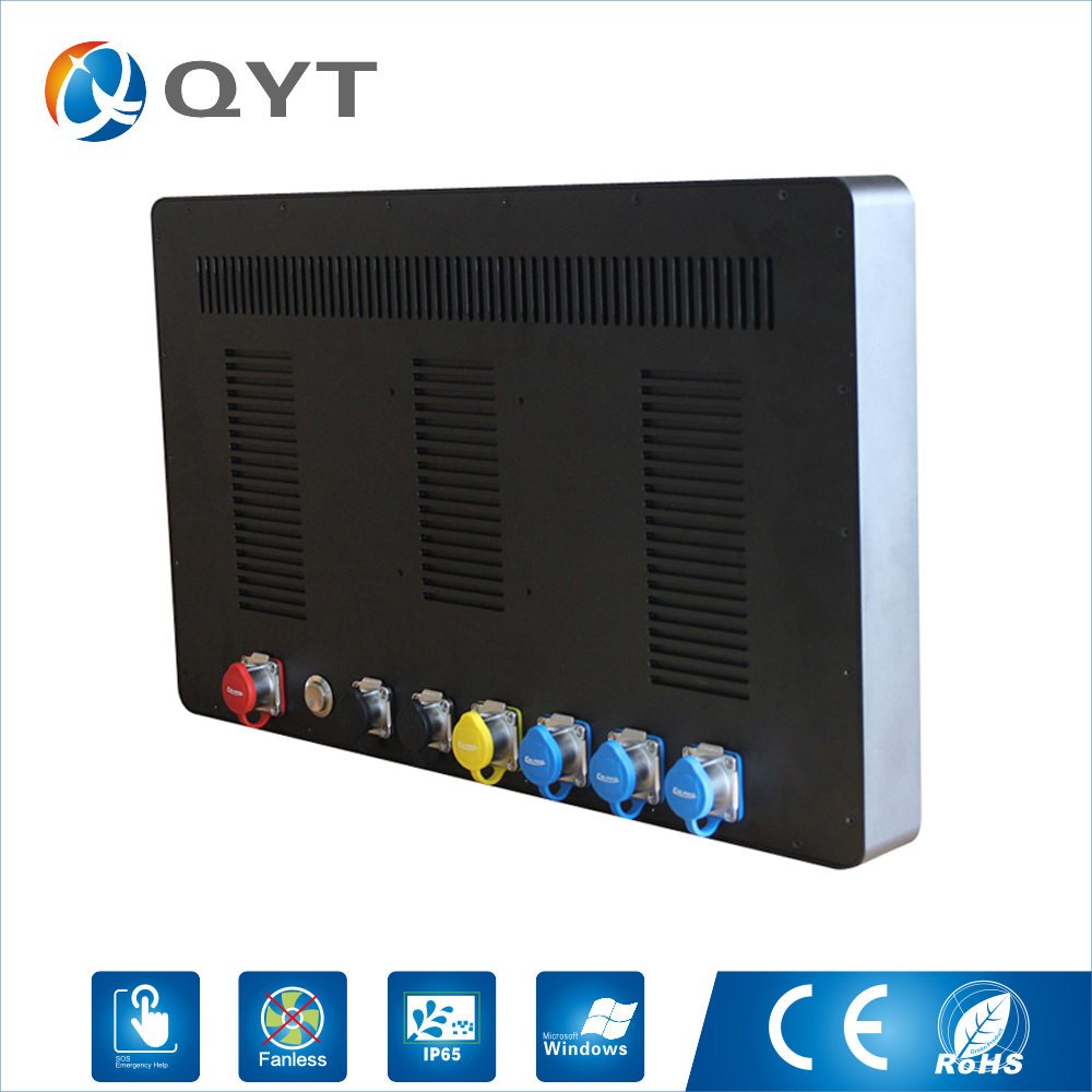 Pc Industrial 21.5 inch Intel 3855U 1.6GHz ip65 Resolution 1920*1080 Waterproof PPC Functional Fanless oem Rugged Tablet pc