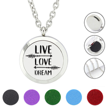 "Здесь можно купить   Silver 30mm New ""LIVE LOVE"" Magnetic 316L Stainless Steel Essential Oil Diffuser Perfume Locket Necklace Pendant Jewelry Fashion Jewelry"