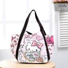 Frauen Designer Handtaschen Hochwertige Mode Cartoon Hallo Kitty Crossbody Taschen Für Frauen Handtaschen Aus Leder Handtaschen