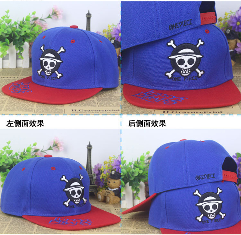 Anime One Piece cráneo cabeza algodón gorra de béisbol Sol sombrero regalo  Cosplay hip hop 2015 nueva moda en Gorras de béisbol de Deportes y ocio en  ... 8ec8238a5b1