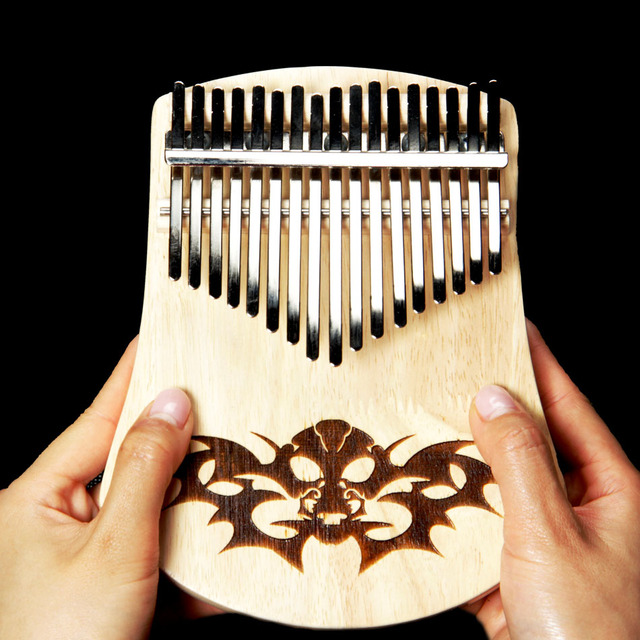 US $64 8 |BATESMUSIC 17 Key Kalimba African Thumb Piano Finger Percussion  Keyboard Music Instruments Kids Thailand oak-in Guitar Parts & Accessories