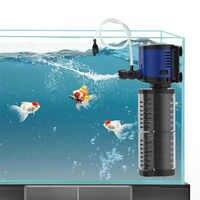 Newest Aquarium Filter Pump Double Filtration Sponge, fish tank Submersible 2layers filter pump, create Air & Water Spray Nozzle