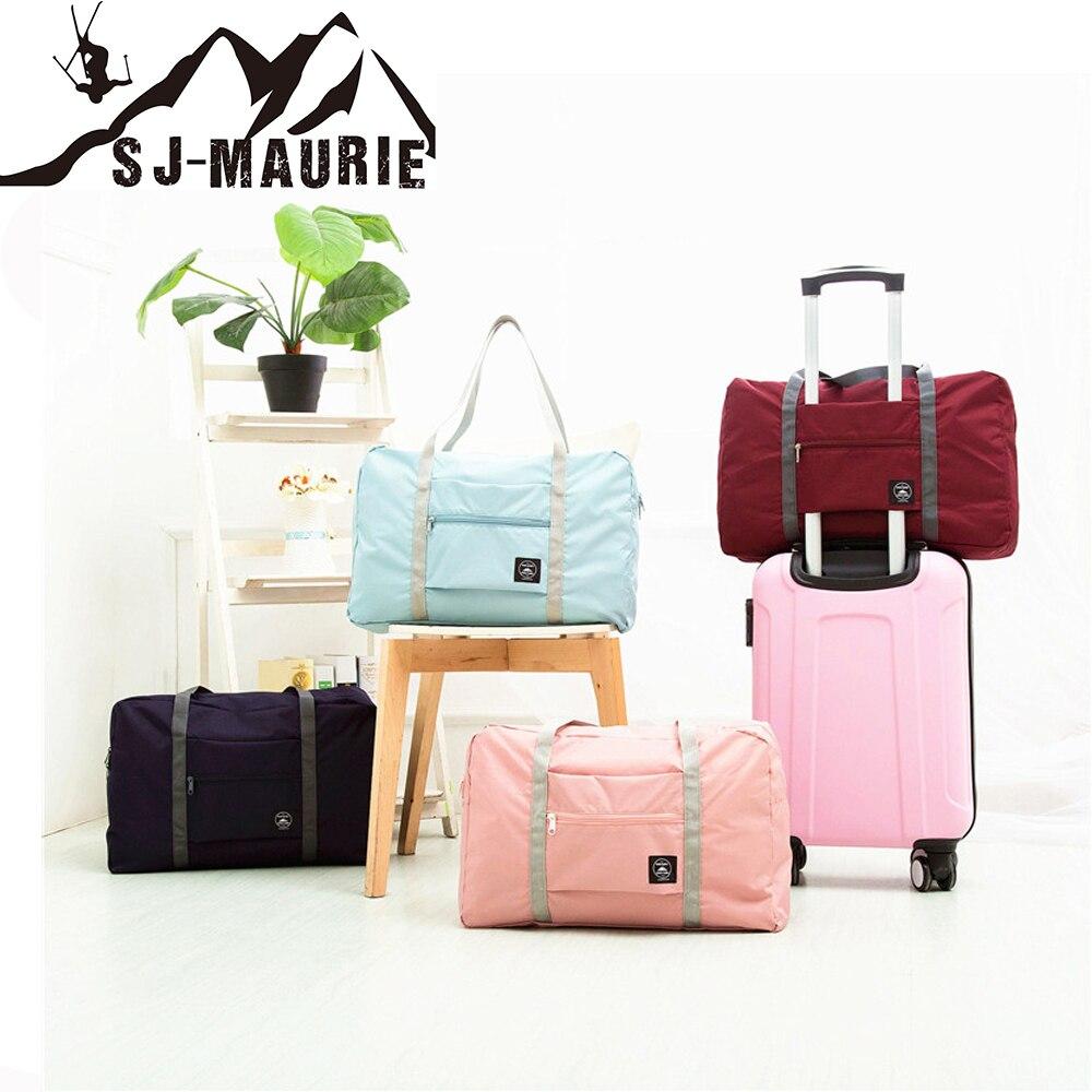 SJ-Maurie Hot Sports Folding Storage Outdoor Training Travel HandBag Large Capacity Women Fitness Yoga Duffle Gym Bag 48x16x32cm