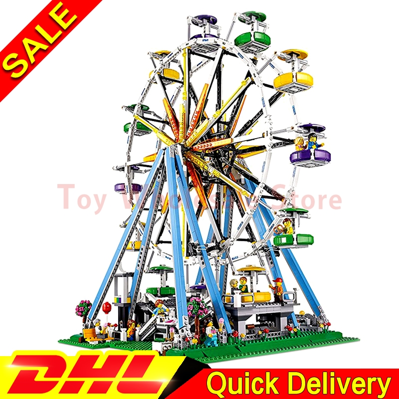 LEPIN 15012 2478Pcs City Series Expert Ferris Wheel Model Building Kits Blocks Bricks lepins Toy Gift Clone 10247 lepin 21003 series city car beetle model building blocks blue technic children lepins toys gift clone 10252