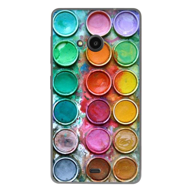 Crownpro para microsoft nokia lumia 535 case cubierta del teléfono pintura protector de espalda para nokia lumia 535 case cubierta para nokia 535
