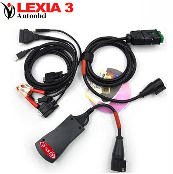 Цена за Лексия-3 + со Светодиодной подсветкой V47-China подать Lexia3 PP2000 Диагностический Новая Версия/Lexia 3 PPS2000 с Последним Diagbox (V7.56)