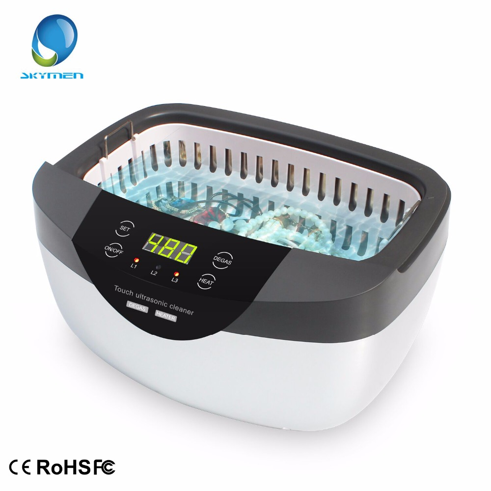 Skymen 2500ml Ultrasonic Cleaner Degas Timer Heating Household Jewelry Cleaning Denture Glasses Fruit Tableware Washing Machine